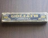 Vintage 1940s Goliath Harmonica No 453 Original Box