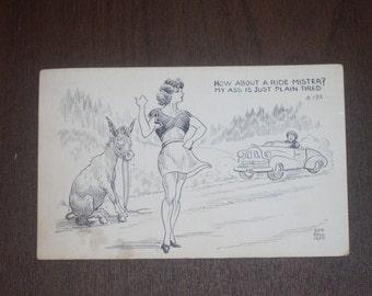 Vintage 1950 Bob Hall Post Card