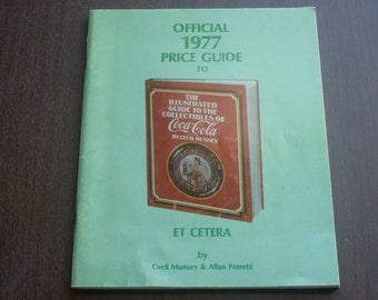 Vintage 1977 Official Coca Cola Price Guide