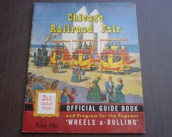 Vintage 1949 Chicago Railroad Fair Official Guide Book