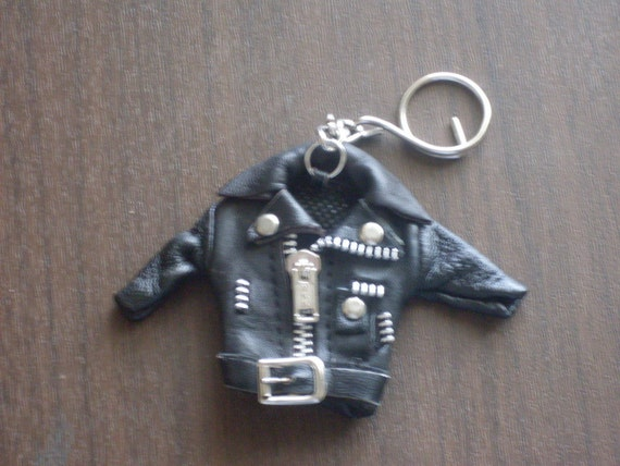 1980s Leather Jacket Keychain