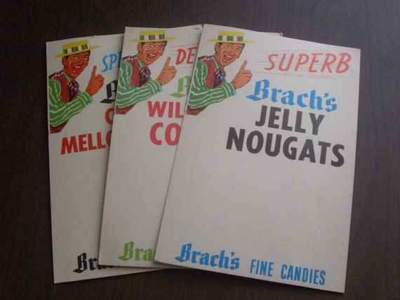 1950s Brachs Candies Display Signs Set of 3