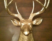 Gold Faux Deer Head Mount