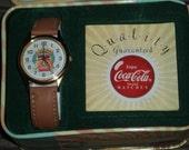 Coke Cola Watch and Tin-SALE