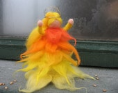I am the sun, sun character, mythical figure, Waldorfart, yellow, orange