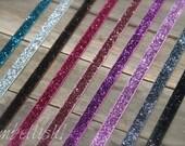 Glitter Elastic Headbands - Girls Newborn Infant Baby Toddler Child Adult Glitter Headband