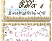 Baby Shower for Boys or Girls photo edible image cake topper  cake decoration frosting sheet
