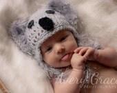 Koala Beanie & Diaper Cover Set