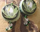 Michigan Perennial Waterlily Earrings