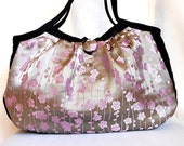 Pink Bag Evening Purse Fabric Hobo Bag Handbag Satin Pink Asian Fabric Pink Plum Blosssom Print Small Bag In Stock