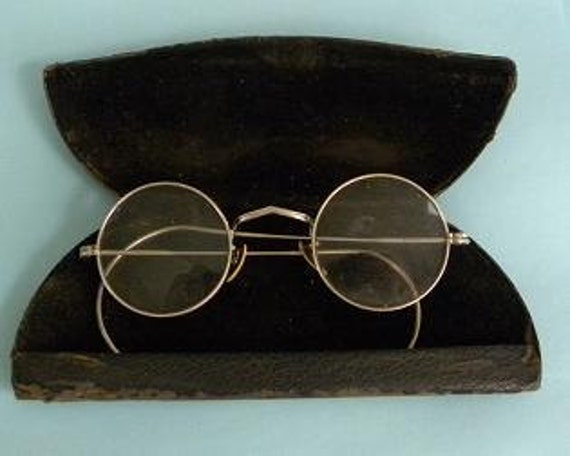 Early Spectacles and Case 12k G. F. Vintage Glasses Take 10% Off