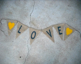 LOVE Burlap Banner Photography Prop