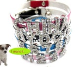 Personalized Rhinestone Pet Collar (A-Z and Any Name)