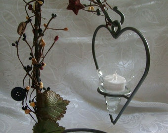 Heart Shape Candle Holder - Heart - Iron - Candle Holder - Centerpiece