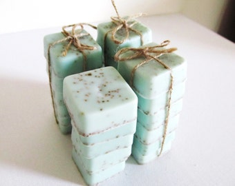 10 Soap Wedding Favors, Bridesmaid Gifts, Baby Shower Favors, set of 6, soap gift set