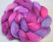 Hand Dyed Spinning Fiber BFL Combed Top (Roving) 4 oz. MH2212