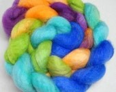 Hand Dyed Spinning Fiber BFL Combed Top (Roving) 4 oz.