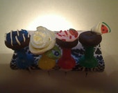 Pushpins,sweet treats,set of 4