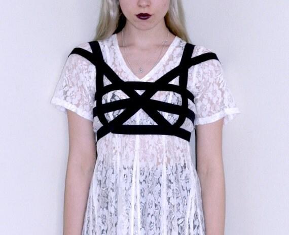 Black Geometry- Bandage Caged Bralet