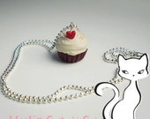 Valentine's Day Red Velvet Scented Cupcake Necklace
