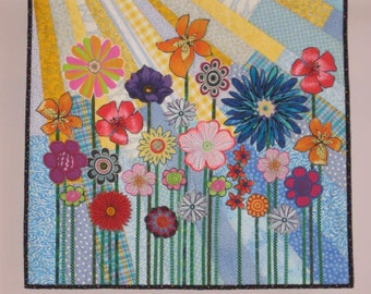 Whimsical Garden 4 wall quilt