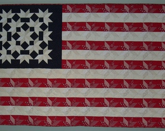 Flag wall quilt