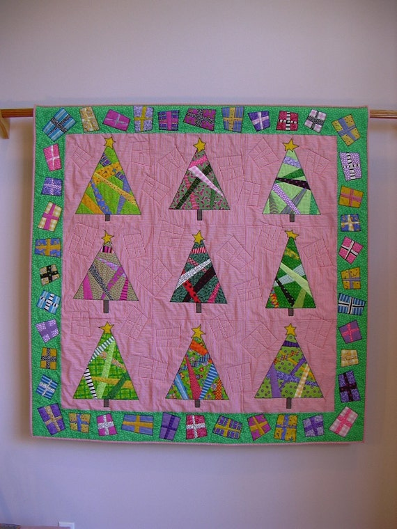 And Presents 'Round the Tree wall quilt