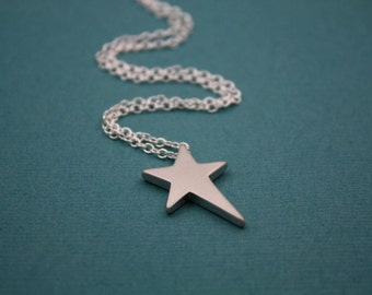 103- Shoot for the Stars  - Sterling Silver Star necklace