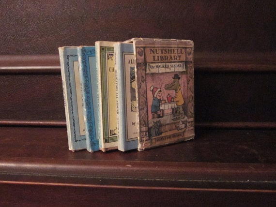 1962 Nutshell Library set of 4 mini-books by Maurice Sendak