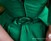 Gorgeous Emerald Green 1960s Lorrie Deb Cocktail Dress