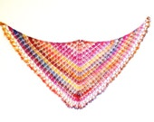 Shawl - Shawlette - Long Scarf - beach wrap - belly dancing wrap - crochet sarong - Neckwear - Neck accessories - PDF crochet pattern