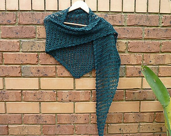 CROCHET PATTERN - Crochet Shawl - Crochet Shawlette - Crochet Long Scarf - Lacy Neckwear crochet pattern -Crochet Belly Dancing Wrap Pattern