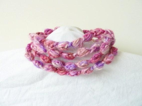 A String of Fibre Art Pearls Necklace/Bracelet/Lariat  - PDF pattern only. Pattern is written in standard American terms