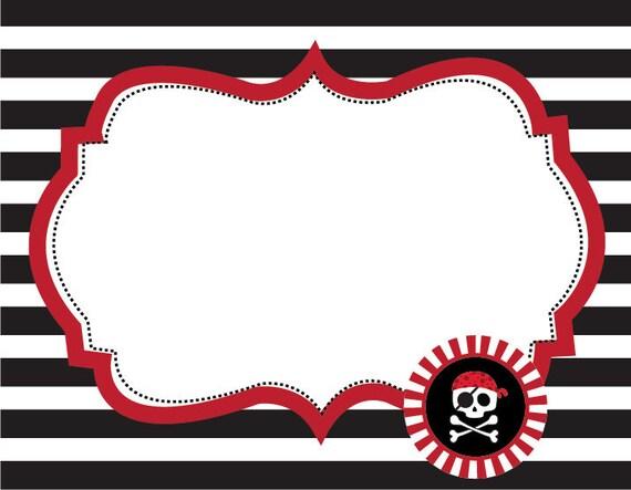 items similar to pirate printable fancy labels food. Black Bedroom Furniture Sets. Home Design Ideas