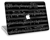 "Apple Macbook Air 11"" 13"" Decal Skin and Apple Macbook Pro 13"" 15"" Decal Skin  - Musical Notes"