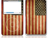 Apple iPod Classic Decal Skin Cover - Old American Flag