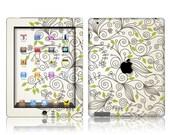 Apple iPad Air 2, iPad Air 1, iPad 2, iPad 3, iPad 4, and iPad Mini Decal Skin Cover- Foliage