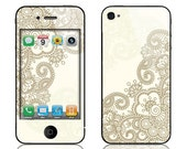 Apple iPhone 4 4S Decal Skin Cover - Henna