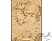 Apple iPhone 4 4S Slim Hard Case Cover  -  Old Map