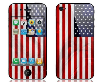 Apple iPhone 3G / 3GS, iPhone 4 / 4s, iPhone 5 / 5s, iPhone 5c, iPhone 6, iPhone 6 Plus Decal Skin Cover - American Flag