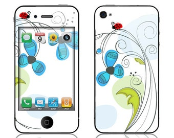 Apple iPhone 3G / 3GS, iPhone 4 / 4s, iPhone 5 / 5s, iPhone 5c, iPhone 6, iPhone 6 Plus Decal Skin Cover - Ladybug