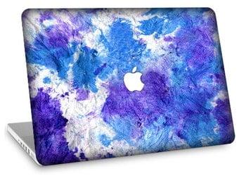 """Apple Macbook Air 11"""" 13"""" Decal Skin and Apple Macbook Pro 13"""" 15"""" Decal Skin  - Blue Tie Dye"""
