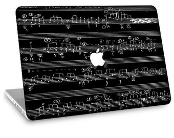 """Apple Macbook Air 11"""" 13"""" Decal Skin and Apple Macbook Pro 13"""" 15"""" Decal Skin  - Musical Notes"""