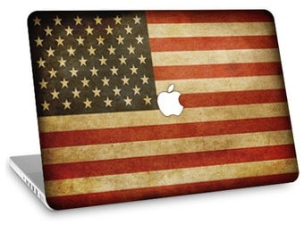 "Apple Macbook Air 11"" 13"" Decal Skin and Apple Macbook Pro 13"" 15"" Decal Skin  - American Flag"