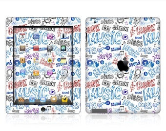 Apple iPad Air 2, iPad Air 1, iPad 2, iPad 3, iPad 4, and iPad Mini Decal Skin Cover - Doodle