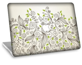 "Apple Macbook Air 11"" 13"" Decal Skin and Apple Macbook Pro 13"" 15"" Decal Skin - Foliage"