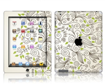 Apple iPad Air 2, iPad Air 1, iPad 2, iPad 3, iPad 4, and iPad Mini Decal Skin Cover- Foliage