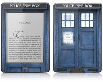 Amazon Kindle Touch Paperwhite Fire Hd Skin Cover - Police Public Call Box