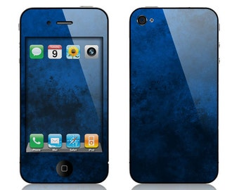 Apple iPhone 3G / 3GS, iPhone 4 / 4s, iPhone 5 / 5s, iPhone 5c, iPhone 6, iPhone 6 Plus Decal Skin Cover - Emotion (Blue)