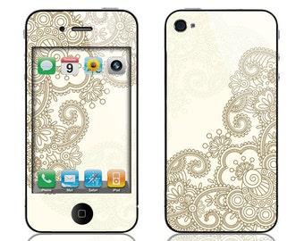 Apple iPhone 3G / 3GS, iPhone 4 / 4s, iPhone 5 / 5s, iPhone 5c, iPhone 6, iPhone 6 Plus Decal Skin Cover - Henna